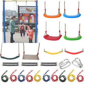 Garden-Swing-Set-Seat-Rope-Strap-Connector-Chain-Kid-Adult-Outdoor-Fun-Play-Game