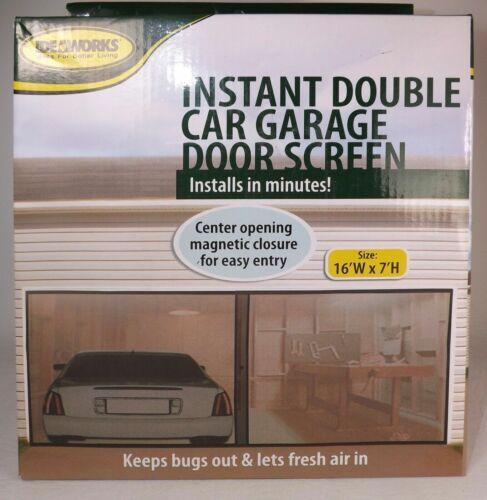 Double Voiture porte de garage écran Mosquito Mesh Net Fermeture Magnétique Insectes Insectes