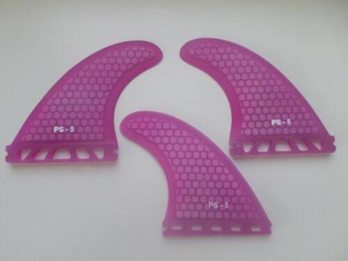 FUTURES compatible PERFORMANCE CORE surfboard THRUSTER FINS pink set x 3