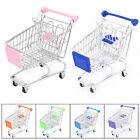 Mini Supermarket Handcart Shopping Utility Cart Mode Storage Basket Phone Holder