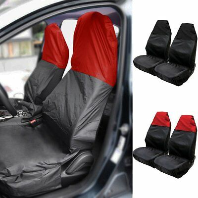Universal Heavy Duty Nylon Car Seat Covers Waterproof Protectors Van Front Black