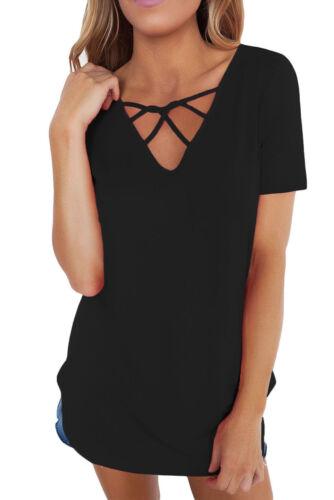 Damen Trendy 250139 Basic Top Shirt Lssig Schwarz M Bluse rrzZwY