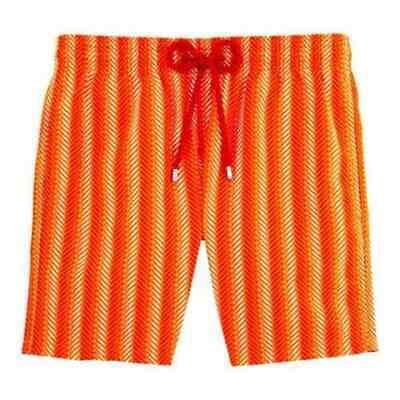 100% Originale Vilebrequin St. Tropez Costume Da Bagno Micro Pesce Soggetto Papaye Taglia L * Nuovo-mostra Il Titolo Originale