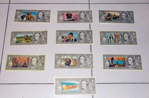 10 diverse figurine EDIS TORINO serie Far West Dollari Banconote Punti Raccolta