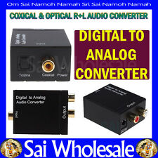 Spdif Coaxial or Toslink Optical Digital to Analog Converter L/R RCA Audio