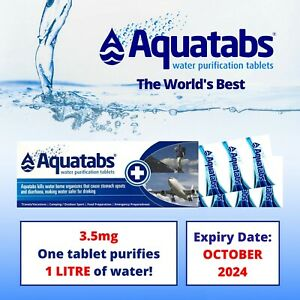 Aquatabs-Potable-Water-Purification-1-lt-Tablets-10-tab-strip-camp-survival-army