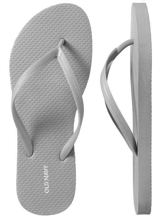 0946d642b Old Navy Womens Metallic Silver Rubber Flip Flops Size 7 for sale ...