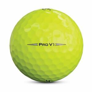 24 Titleist Pro V1 2019 Yellow Near Mint Used Golf Balls AAAA