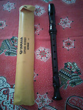 VINTAGE FLAUTO YAMAHA SOPRANO RECORDER GERMAN JAPAN COLOR MARRONE SCURO PLASTICA