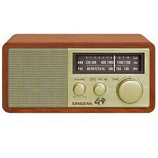 Sangean WR-11SE FM / AM Analog Wooden Cabinet Radio Receiver in Gold Finish New