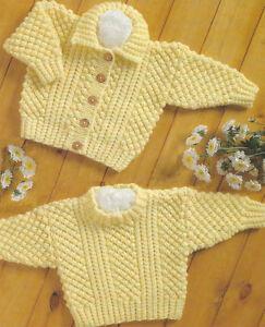 af2ffacbf Knitting Pattern- Aran- Cable   Blackberry Stitch Jumper   Cardigan ...