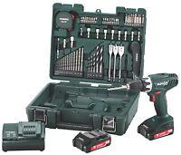 Metabo Bs18 Li 18v Drill Set Mobile Workshop 2 X 2.0 Ah Batteries & Accessories