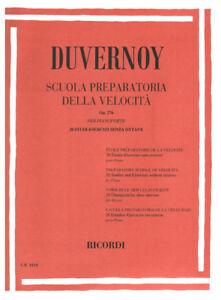 20 studi-e 23904 Spartito Duvernoy Scuola preparatoria della velocità 276 op