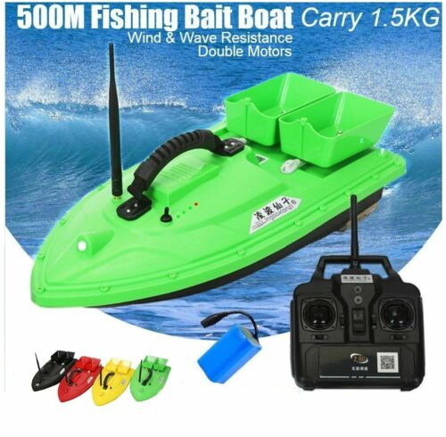 Wireless Fishing Bait RC Boat Double Motors 500m Fish Finder Single Hand Control
