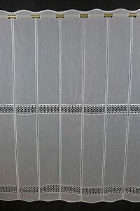 Scheibengardine nach Maß Gardine Bistrogardine 90 cm hoch weiß 5420 Macrame