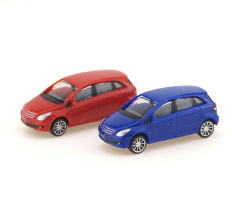 rojo//violáceo 2er de automóvil set Mercedes-Benz Clase B Herpa 065283-002 pista n