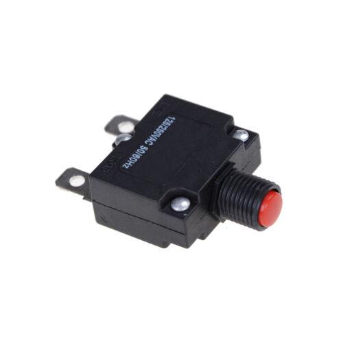 125//250V AC 15 a interrupteur poussoir Reset bouton disjoncteur surcharg Md