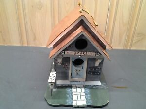 Fabulous Details About Kathy Hatch Collectible Birdhouse Hand Painted Signed Book Store Copper Roof Home Interior And Landscaping Palasignezvosmurscom
