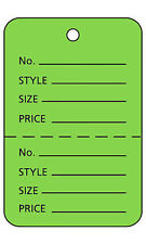 """100 Perforated Tags Price Sale 1 ¼/"""" x 1 ⅞"""" Two Part Merchandise Gray Grey Tag"""
