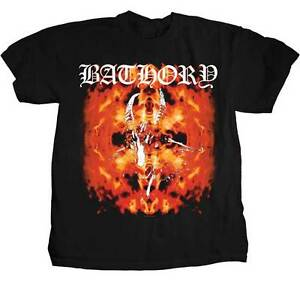 Bathory fire goat t shirt s m l xl brand new for On fire brand t shirts