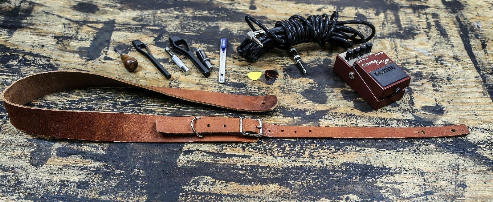 Extra Larga Correa Correa Correa de Guitarra 58  -68  Cuero Genuino Silla De Montar Bronceado 1 3 4  con Hebilla d79c0c