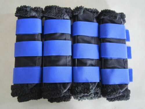 Horse Fly Mesh Boots Set of 4 Black /& Royal Australian Made Summer Protection