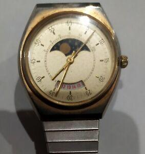 belle montre ancienne mécanique  PHASE DE LUNE sans marque Ebauche ?