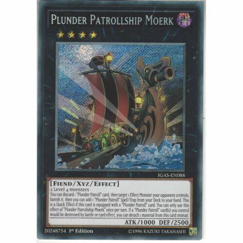 IGAS-EN088 Plunder Patrollship Moerk1st EditionSecret Rare Card YuGiOh TCG