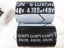 2 x 4700uF 40V 105°C ELKO axial LUXON Japan #14E94#