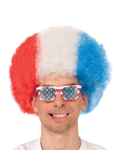 USA PRIDE Brand New TEAM USA AFRO COSTUME WORLD CUP WIG