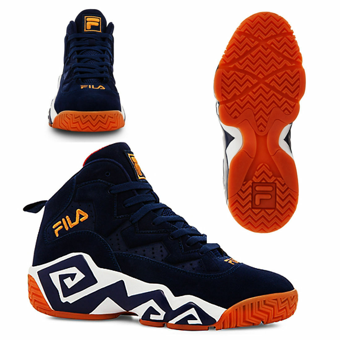 NEW MENS FILA LIMITED EDITION RETRO JAMAL MASHBURN MB BASKETBALL SNEAKER
