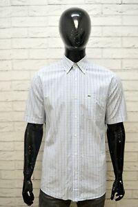 LACOSTE-Uomo-Camicia-Manica-Corta-Camicetta-Taglia-40-XL-Maglia-Shirt-Man-Hemd
