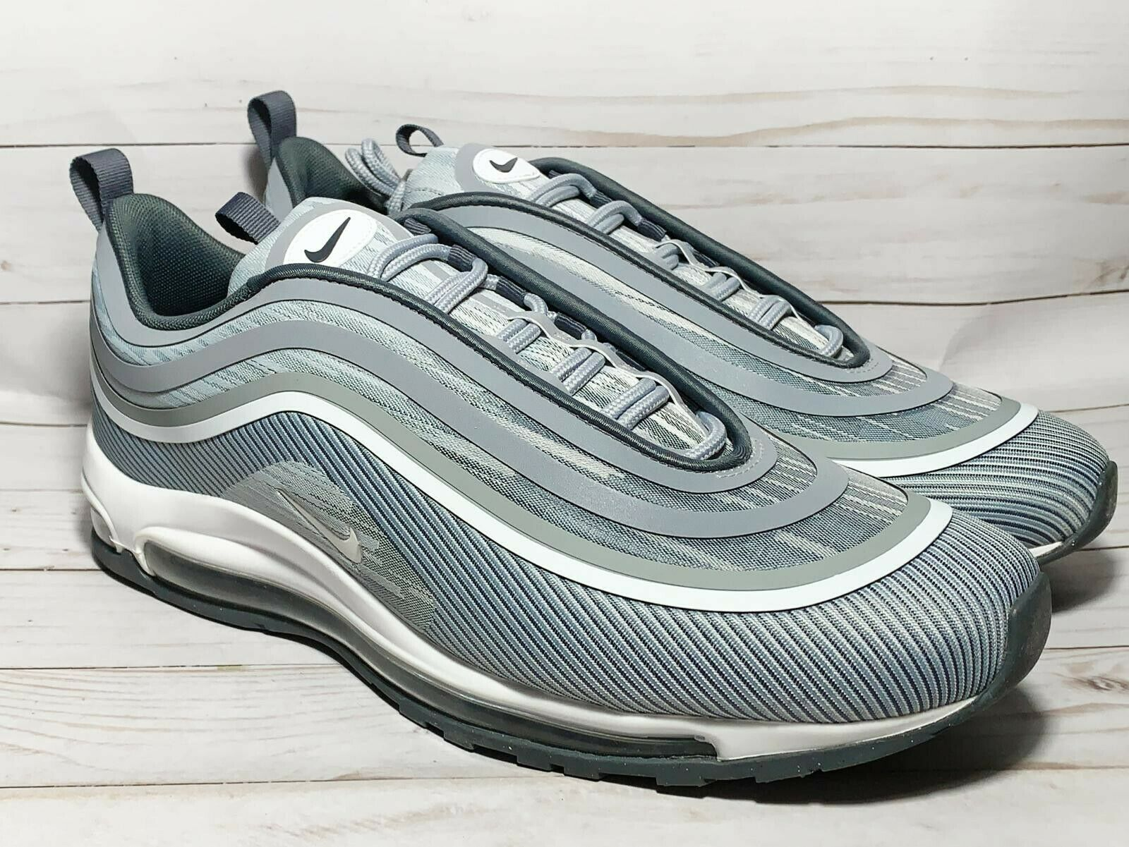 Nike Air Max 97 UL Ultra '17 Wolf Grey White Silver Bullet Size 10.5 918356-007