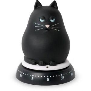 Timer da cucina 60 minuti meccanico gatto nero o bianco | eBay