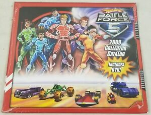 New-Hot-Wheels-Battle-Force-5-2009-Collector-Catalog-Including-DVD
