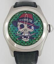 Rare Corum 8xx of 888 Bubble Gangster LTD Automatic Watch Green Crocodile 45 mm