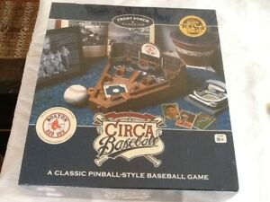 Details about New Tabletop PINBALL Baseball Game Front Porch Classics  Wooden BOSTON RED SOX