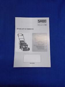Original Mode D'emploi Sabo 47 K Vario B-itung Sabo 47 K Vario B Fr-fr Afficher Le Titre D'origine
