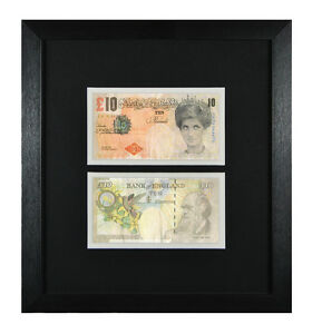 2-FRAMED-MOUNTED-BANKSY-DI-FACED-TENNERS-10-PRINCESS-DIANA-TEN-POUND-BANKNOTE