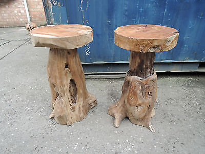 Teak Root Bar Stool For Indoor Amp Outdoor Sturdy Seat 40cm