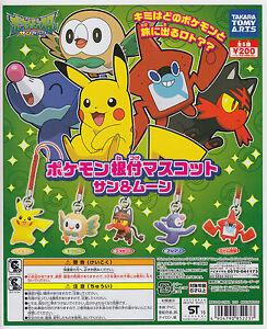 Pokemon Pikachu Sun /& Moon Netsuke Mascot Strap Cell Phone Capsule Figurine Toy