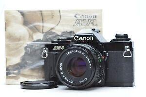 [NEAR MINT] Canon AV-1 black 35mm SLR w/ New FD 50mm F/2 Lens from Japan #2775