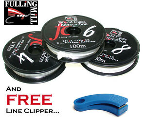 Fulling-Mill-100m-World-Class-Fluorocarbon-Tippet-Spools-FREE-Line-Clippers