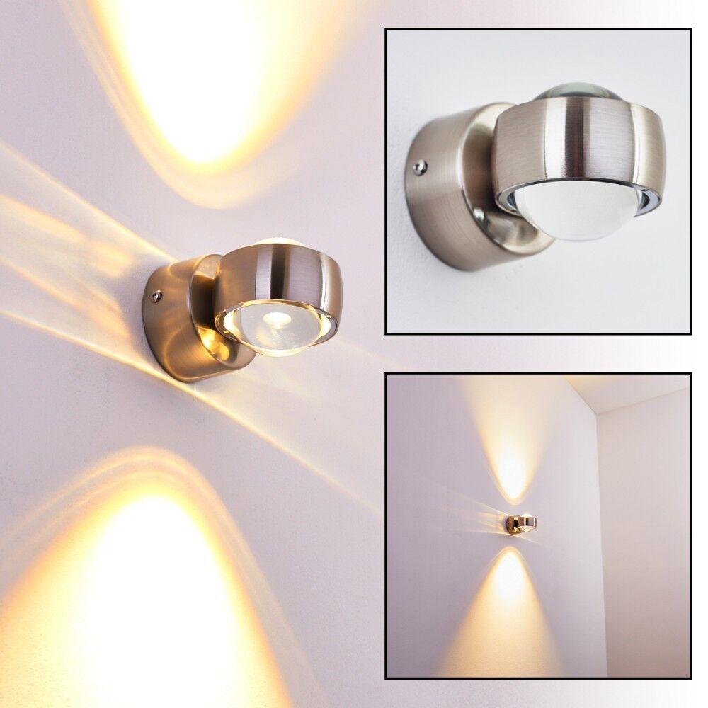 Wandleuchte LED Design Wand Strahler Flur Lampen Wohn Zimmer Leuchte Spot silber | Feine Verarbeitung