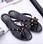 Women-Summer-Beach-Studded-Rivets-Bow-Flip-Flops-Flat-Heel-Slipper-Sandals-Shoes thumbnail 1
