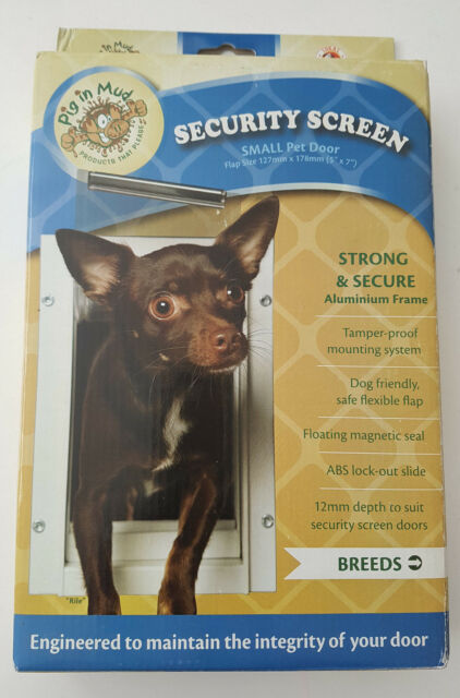 Pig In Mud Security Screen Small Pet Door White For Sale Online Ebay