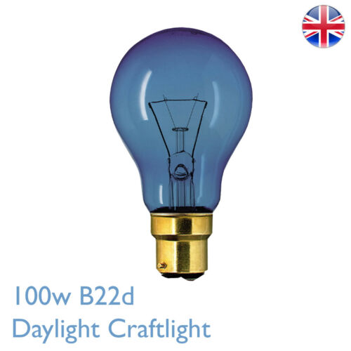 100 W BC Daylight Craftlight GLS Blue Filtre Bulb 240 V Sad Therapy Crafts Lamp