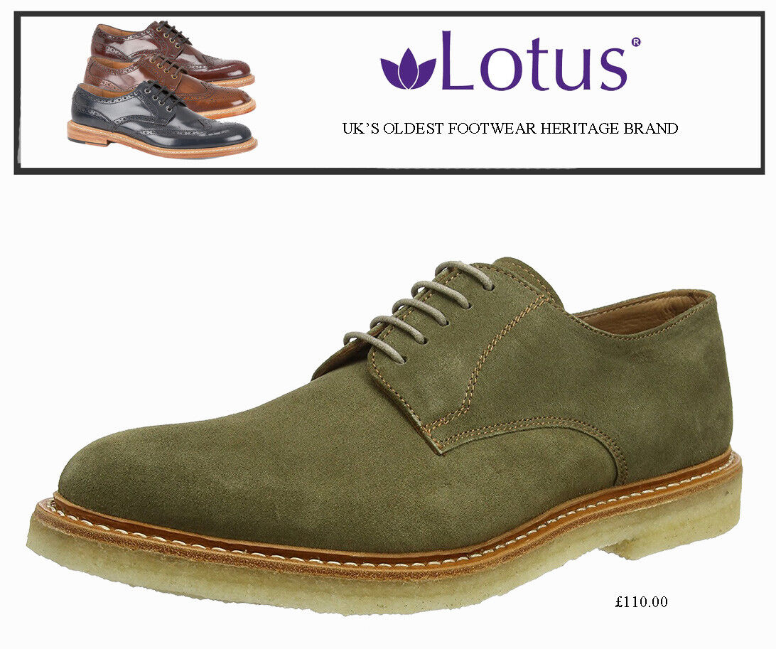 Lotus Men Alexander Derby shoes Olive 11 UK 45 EU   P&P Secure