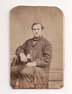 Vintage-CDV-Unknown-Man-Photo-by-William-Swain-Mount-Holly-new-Jersey