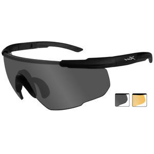 6978b4cc45 Details about Wiley X Saber Advanced Glasses 2 Spare Lenses Hunting Combat  Matte Black Frame